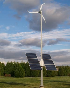 Windsolar hybrid system